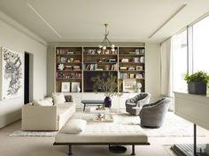 modern white living room by Shawn Henderson