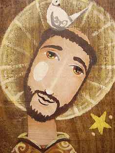 A pomba e a estrela... Francis Of Assisi, St Francis, Patron Saint Of Animals, San Francisco, Jesus Art, Holy Mary, Blessed Virgin Mary, Blessed Mother, Form Design