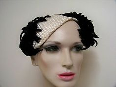 Smashing Womens 50s Vintage Couture Hat from Paris Must C | eBay