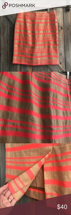 ✨NEW✨ J Crew Pencil Skirt Amazing! Excellent quality and condition! Hot pink and tan. J. Crew Skirts Pencil