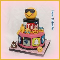 Social Media Cake Voor My Daughter