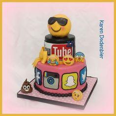 Social media cake voor my daughter!