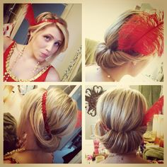 Done by me. 1920's flapper hair!
