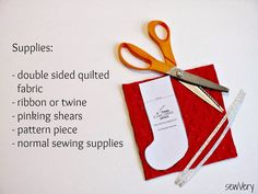 sewVery: A sewVery Simple Stocking Ornament Tutorial
