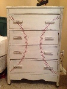 Baseball Bedroom dresser for a boy