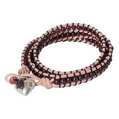 NOVICA WhiteRose Cultured Freshwater Pearl 925 Sterling Silver Leather Cuff Bracelet Love Glows *** Visit the image link more details.