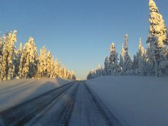 On the road to Tankavaara, Finnish Lapland.