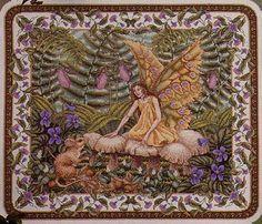 "Teresa Wentzler's ""Woodland Faerie"" - loved stitching her!"