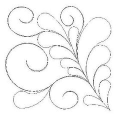 Elegant Feather Block 2 Quarter - Would be so pretty embroidered and hanging on a wall