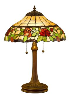 Amora Lighting AM006TL16 Tiffany Style Floral Table Lamp, 23-Inch