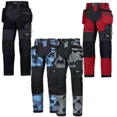 Snickers FlexiWork, Work Trousers with Kneepad & Holster Pockets - 690 –…