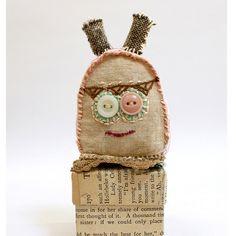 care  - Vintage Fabric Primitive Dolls - by Grrl+Dog