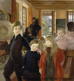 Albert Besnard (1849-1934) Une famille dit aussi La famille de l'artiste à Talloires (Haute-Savoie) 1890 Huile sur toile H. 132 ; L. 120.5 c...