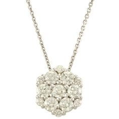 Antwerp's 14k Gold 1/2ct TDW Diamond Glitter Cluster Necklace