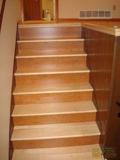 Maple Wood Flooring Stair Works