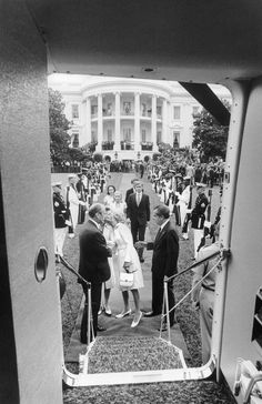 Richard Nixon departs from the White House before Gerald Ford was sworn in as President By Oliver F. Atkins, Washington, DC, August 9, 1974