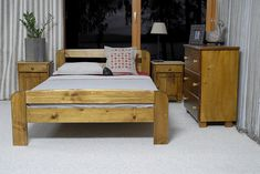 One of the newest model in our collection among other sizes is available in cm). It can be also equipped with additional under bed which will help you to organize your stuff! Pine Bed Frame, Wooden Bed Frames, Super King Size Bed, King Size Bed Frame, Bed Frame With Mattress, Bed Mattress, Pine Wood Furniture, Pine Beds, Under Bed