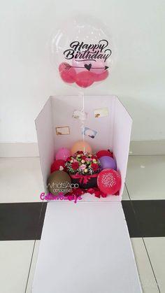 Please do not hesitate to whatsapp me if you require further information Surprise Delivery Penang Kedah Kl Whatsapp No : Birthday Balloon Surprise, Bff Birthday, Cute Birthday Gift, Birthday Balloons, Boyfriend Anniversary Gifts, Birthday Gifts For Boyfriend, Boyfriend Gifts, Gift Card Boxes, Diy Gift Box