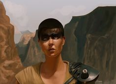 "capps-art: "" Furiosa Speed paint/ study """