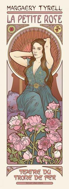 Margaery Tyrell game of thrones art noveau