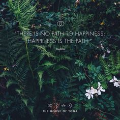 """""""There is no path to happiness: happiness is the path."""" ― Buddha #quote #thehouseofyoga #buddha"""