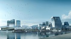 """An introduction to the reneval of Oslo's waterfront, the programme known as """"Fjord city"""", and the plans for development of the Bjørvika area. Universal Studios Hotels, Richard Rogers, Oslo Opera House, Contemporary Museum, David Chipperfield Architects, City Library, New Architecture, Visit Norway, Zaha Hadid Architects"""