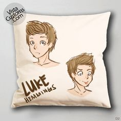 5SOS cartoon art Luke Hemmings Singing Pillow Case, Chusion Cover ( 1 or 2 Side Print With Size 16, 18, 20, 26, 30, 36 inch )