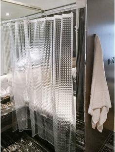 Basics Forro transparente de PVC para cortina de ducha 180 x 180 cm
