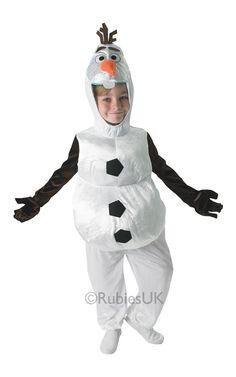Olaf. Laadukas naamiaisasu sopii hyvin vauhdikkaisiin naamiaishullutteluihin. Olafin naamiaisasu on lisensoitu Disney Frozen-tuote.