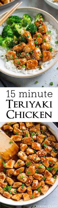 Teriyaki Chicken {Easy 15 Minute Recipe} via @cookingclassy
