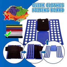 Adult Kids Magic Clothes Folder T Shirts Jumpers Organiser Fold Adult Kids Magic Clothes Folder T Shirts Jumpers Organiser Fold Clothes Folding Board, Fold Clothes, Glass Repair, Jumper Shirt, Pool Decks, Useful Life Hacks, Organizer, Clean House, Shopping
