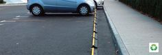 Vistaplan Streetware provide a range of vehicle stoppers including Carstop preventing vehicles from accessing walkways and improving safety. Recycled Rubber, Black N Yellow, Car Parking, Vehicles, Car, Vehicle, Tools