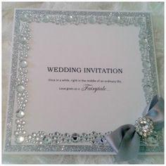 Crystal Elegance silver main Wedding Stationery Uk, Luxury Wedding Invitations, Indian Wedding Invitation Cards, Wedding Invitation Design, Wedding Cards, Diy Wedding, Wedding Tables, Invitation Ideas, Wedding Stuff