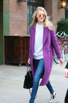 Gigi Hadid's best red carpet and street style looks: In New York City, November 2014