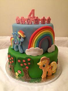 Rainbow Dash & Applejack My Little Pony Cake