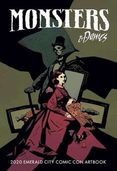 [Art] Mike Mignola cover art for the 2020 Emerald City Comic Con Artbook, Monsters & Dames Character Concept, Character Design, 3d Character, Concept Art, Atlantis, Mike Mignola Art, Darkest Dungeon, Japanese Folklore, Robot Art