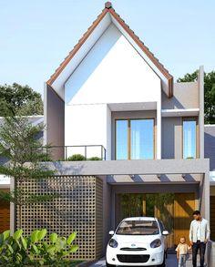 Facade Design, Exterior Design, Architecture Design, Industrial Home Design, Industrial House, Arch House, Facade House, Family House Plans, Dream House Plans