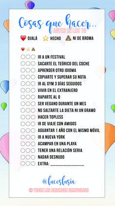 Plantilla de instagram por @luceslusia - Cosas que hacer antes de los 18 Instagram Story Ideas, Instagram Tips, Music Quotes, Book Quotes, Would U Rather, Funny Questions, Life Rules, How To Speak Spanish, Life Motivation