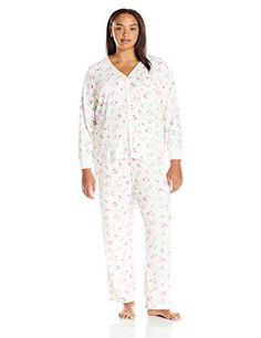 aafb52b835 Carole Hochman Women s Plus Size 3 Piece Pajama Set