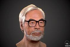 "tokkeiさんのツイート: ""Realtime character WIP :Hayao Miyazaki モデルに毛髪追加。毛がないと宮崎駿とわからんな。 あとは皮膚と毛の調整をやってく。 UE4にも持ってく予定。 #Toolbag3 #Zbrush #SubstancePainter https://t.co/V7o3qzCUzS"""