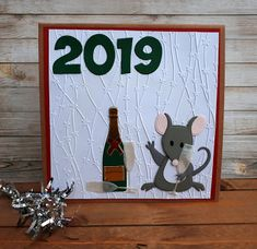Marianne Design, Paper Crafting, Happy New Year, Champagne, Christmas Cards, Creative, Holiday, Crafts, Envelopes