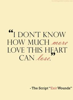 The Script - Exit wounds......love this lyric!