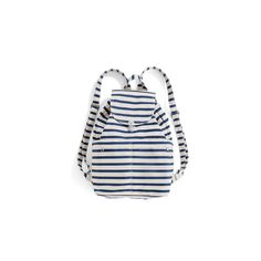 Baggu  Sailor Stripe Front Pocket Backpack ($61) ❤ liked on Polyvore featuring bags, backpacks, stripe backpack, cotton backpack, drawstring backpack, striped backpack and lightweight daypack