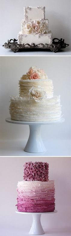 Couture Cake by peonyrose Located in Seattle, WA, Honey Crumb is an award-winning studio bakery specializing in beautifully crafted cakes for all occasions, with a primary focus on contemporary wedding cakes for design-conscious couples