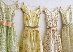 Tea dresses clothesline