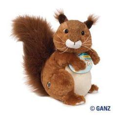 website kids games fun ganz stuffed animal unique celebrate toy children Webkinz Red Squirrel November Pet of the Month Webkinz