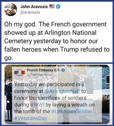 Well, at least somebody cares about America! 🤷🏼♀️🌏 🇫🇷 Thank you France. French Government, Reality Check, Faith In Humanity, No Me Importa, Social Issues, Social Justice, Thought Provoking, Honor Veterans, Military Veterans