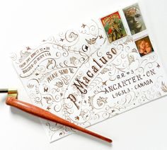 "Typography Art Envelope Tutorial | The Postman's Knock Remember to select the ""Full size"" option when printing. ""Fit to page"" will render a printout that is smaller than A7."