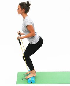 Squat Band Curl - 9 Yoga Poses for The Body Beam