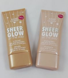 Hard Candy Sheer Glow All The Way- Benefit High Beam and Sun Beam Dupes. See post for comparison swatches.I want to try these :) I have the one in the metallic pink container and love it! Makeup To Buy, I Love Makeup, Kiss Makeup, Drugstore Makeup, Makeup Brands, Makeup Products, Beauty Products, Hard Candy Makeup, Beauty
